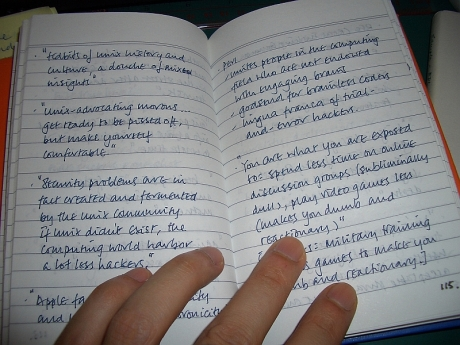 The Naked Listener's handwriting