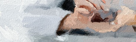 contact female hands oilpaint