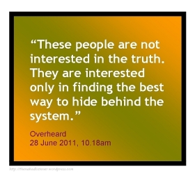 quote hide behind system