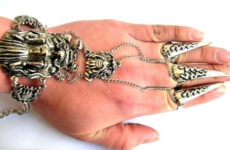 Gothic slave bracelet