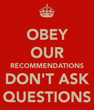 obey our recommendations 2011 0915