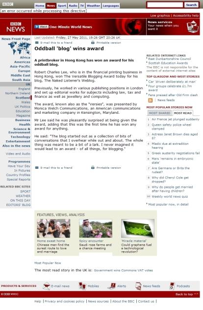 bbc news 2011 0527