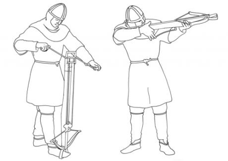 archer crossbow loading