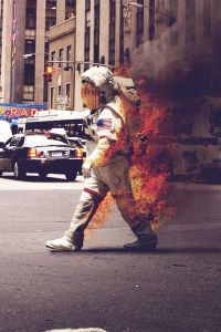 art spaceman on fire 1337431549248