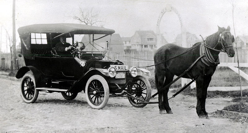 Horse drawn car