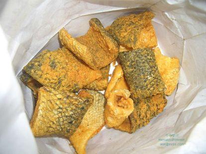 salmon fish skin a la japonais