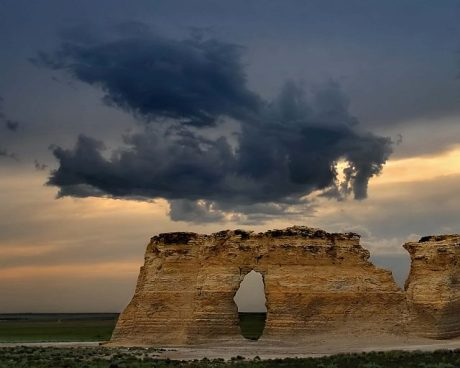 dragon over monument rocks kansas