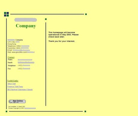 company homepage 2003 0331 redacted