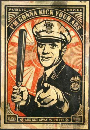 police brutality poster
