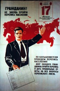 soviet census poster