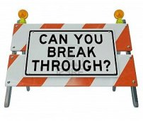 can you break through road sign