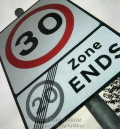 30 zone sign