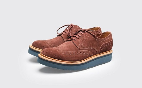 grenson suede brothel creepers