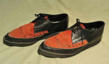 original 1950s brothel creepers red suede