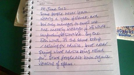 My note dated 14 June 2012