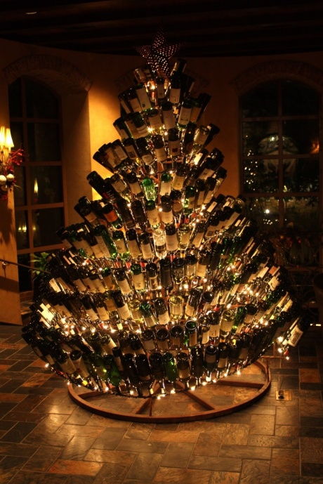 xmas bottle tree via imgur