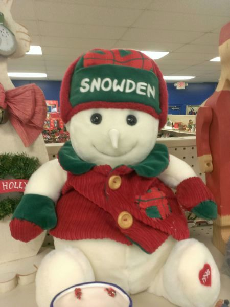 xmas snowden doll