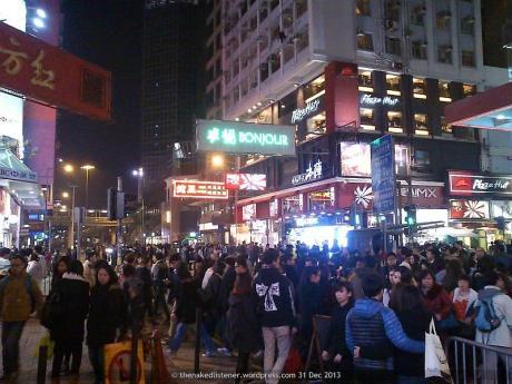 Causeway Bay, Hong Kong, 31 Dec 2013 @ 22h30