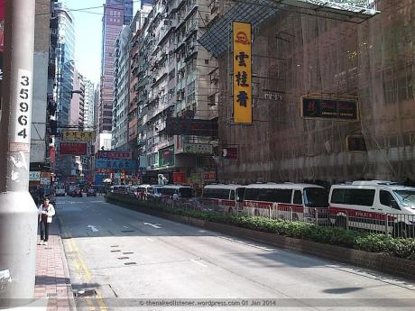Police vans in Causeway Bay, 01 Jan 2014