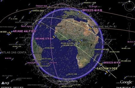 active and inactive satellites tracked