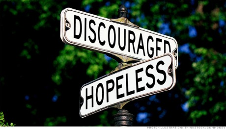 sign discouraged hopeless