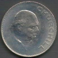 churchill commemorative crown 5s 1965