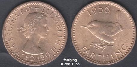 Farthing ¼d 1956