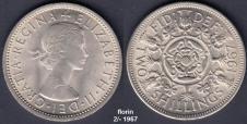Florin 2/- 1967 - the 'two bob bit'