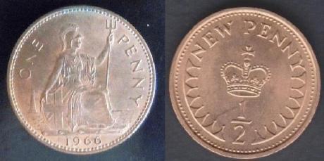 penny 1d vs half penny 0.5p