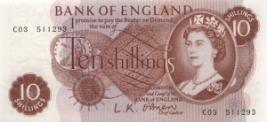 Ten shillings 10/- note