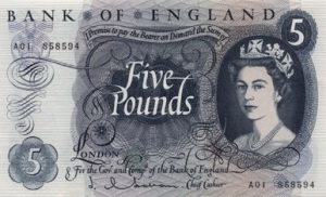 £5 - a 'Lady Godiva' or 'lady'