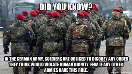disobey german army