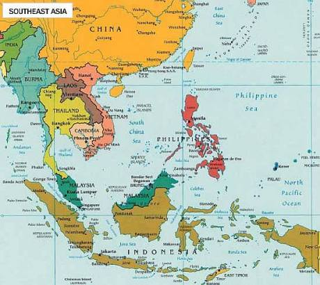 map south east asia political