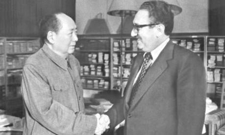 Mao and Kissinger 1973