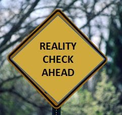 sign reality check ahead