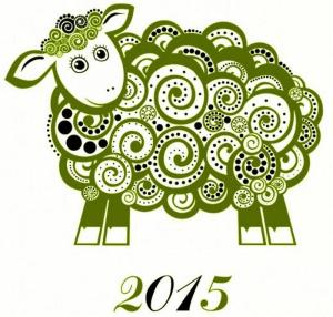 green wooden sheep 2015