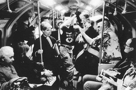 psychobilly buskers on london's piccadilly line