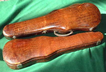 Crocodile skin violin cases