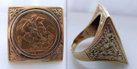 full queen victoria sovereign coin ring gbp 875