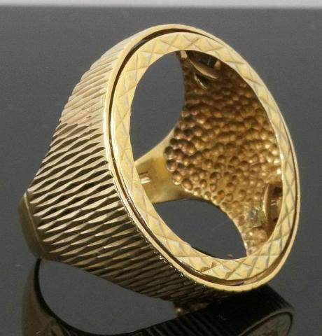 full sovereign gold ring mount small
