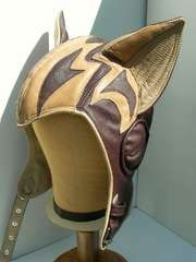 leather pilot's helmet with cat or goat ears
