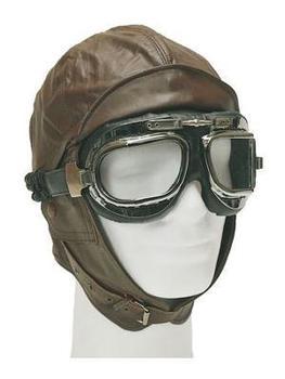 Biggles flier's leather flying helmet