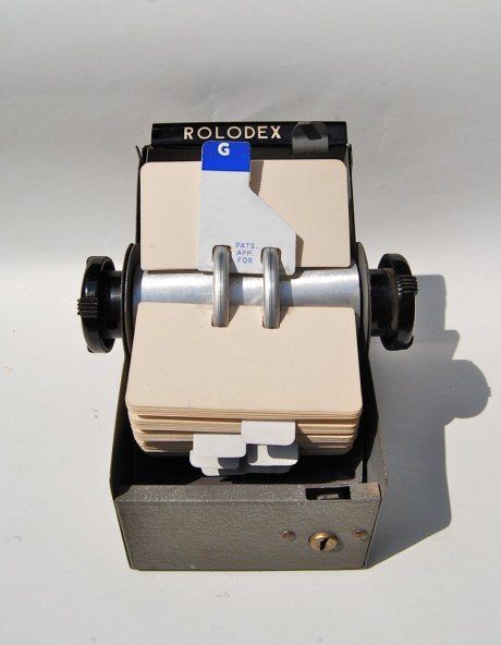 The Rolodex with hatch open