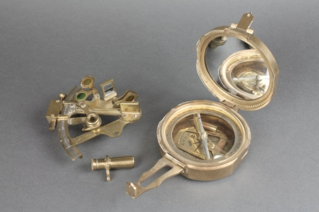 pocket sextant with prismatic compass