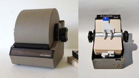 Rolodex rotary card system