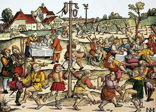 Middle Ages scenes from mediaeval life